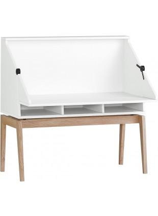 Leander Luna Schreibtisch Weiß - Eiche
