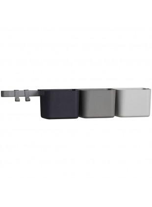 Leander Organizer Set inkl. Wandschiene lang Cool Grey