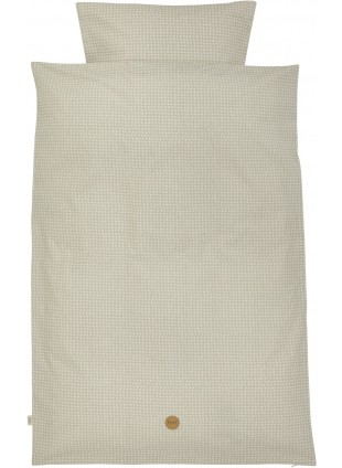 Ferm Living Kinder-Bettwäsche 100x140 cm Cross Grey