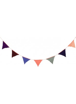Ferm Living Wimpel Girlande Happy Flags Pfirsich/Multi