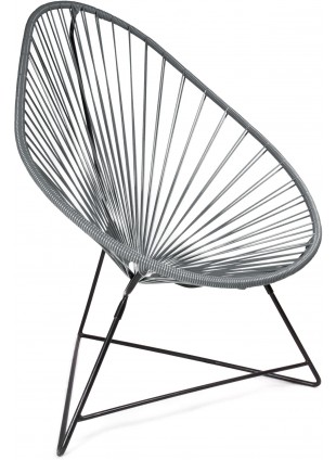 Boqa Acapulco Chair Design-Sessel Schwarz/Dunkelgrau - Kleine Fabriek