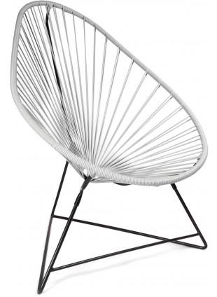 Boqa Acapulco Chair Design-Sessel Schwarz/Hellgrau