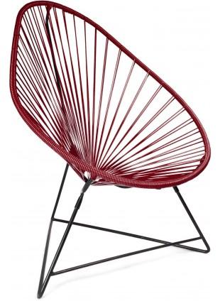 Boqa Acapulco Chair Design-Sessel Schwarz/Weinrot - Kleine Fabriek