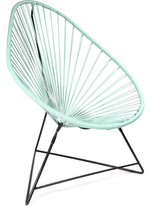 Boqa Acapulco Chair Design-Sessel Schwarz/Mint - Kleine Fabriek