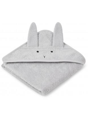 Liewood Kapuzenbadetuch Augusta Hase Dumbo Grey - Kleine Fabriek