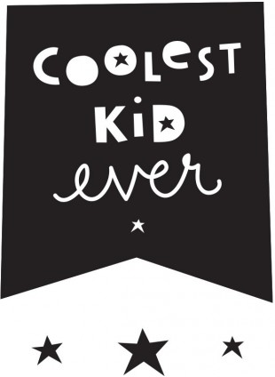 A Little Lovely Company Wall Sticker Wand-Aufkleber Coolest Kid Ever