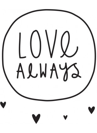 Wall Sticker Wand-Aufkleber Love Always