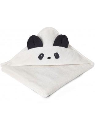 Liewood Kapuzenbadetuch Augusta Panda Creme de la Creme