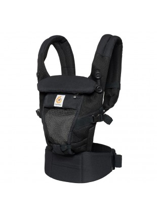 Ergobaby Babytrage Adapt Cool Air Mesh Onyx Black - Kleine Fabriek