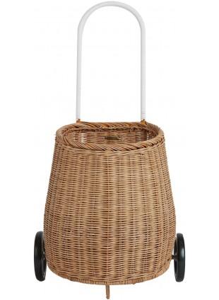 Olli Ella Big Luggy Basket Korb-Einkaufstrolley Natural