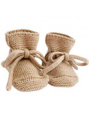 Strick-Babyschuhe Sand von hvid kaufen - Kleine Fabriek