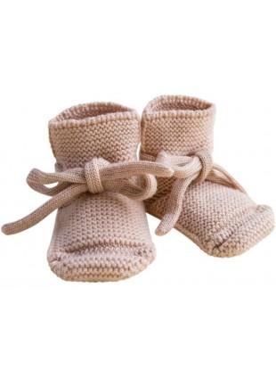 hvid Strick-Babyschuhe Apricot kaufen - Kleine Fabriek