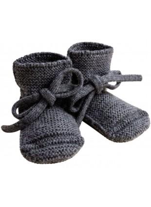 hvid Strick-Babyschuhe Charcoal kaufen - Kleine Fabriek