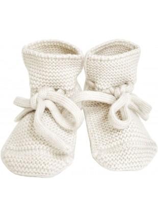 Strick-Babyschuhe Off-White von hvid kaufen - Kleine Fabriek