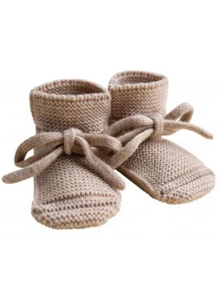 hvid Strick-Babyschuhe Sand kaufen - Kleine Fabriek