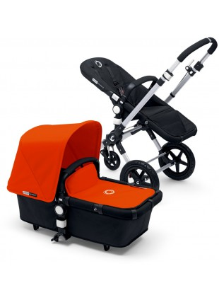 Bugaboo Cameleon 3 Kinderwagen Set Silber / black orange