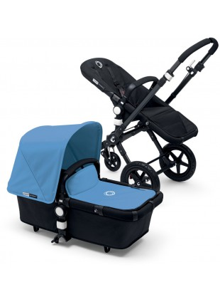 Bugaboo Cameleon 3 Kinderwagen Set Schwarz / black ice blue