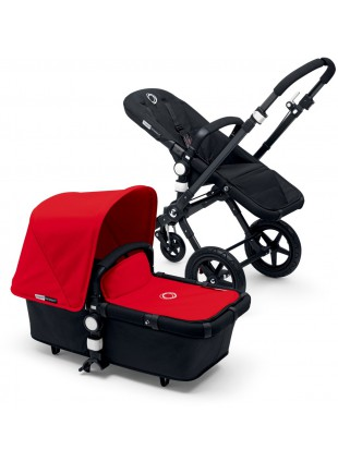 Bugaboo Cameleon 3 Kinderwagen Set Schwarz / black red