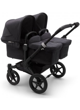 Bugaboo Donkey 3 Twin Mineral Kinderwagen Set Komplett Schwarz - Washed Black