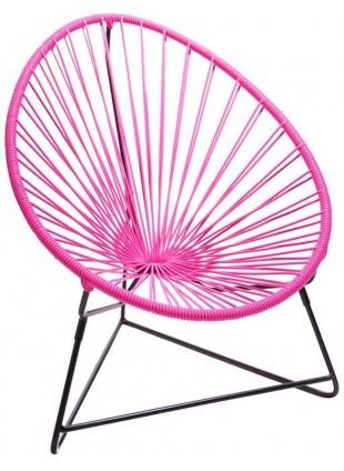 Boqa Acapulco Chair Chiquita Kinderstuhl Schwarz/Pink - Kleine Fabriek
