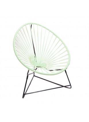 Boqa Acapulco Chair Chiquita Kinderstuhl Schwarz/Mint - Kleine Fabriek