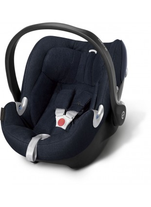 Cybex Aton Q Plus Babyschale Midnight Blue  - Kleine Fabriek