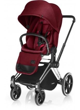 Cybex Priam Kinderwagen Set Chrome / Infra Red mit Lux Sitz - Kleine Fabriek