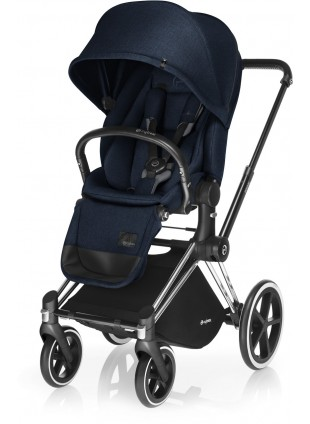 Cybex Priam Kinderwagen Set Chrome / Midnight Blue
