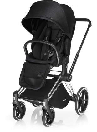 Cybex Priam Kinderwagen Set Chrome / Stardust Black mit Lux Sitz
