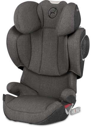 Cybex Platinum Solution Z-Fix Plus Autositz Gruppe 2/3 Manhattan Grey - Kleine Fabriek