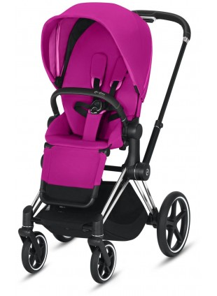 Priam Buggy Fancy Pink mit Gestell Chrome Schwarz - Kleine Fabriek