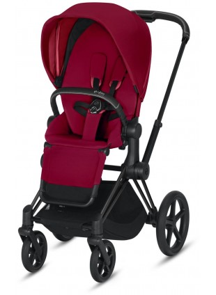 Priam Buggy True Red mit Gestell Matt Schwarz - Kleine Fabriek