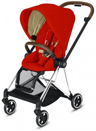 Mios Buggy Autumn Gold mit Gestell Chrome Braun - Kleine Fabriek