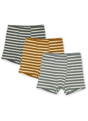 Liewood Boxershorts Set Felix Stripe Blue Fog Multi Mix