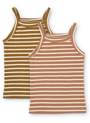 Liewood Unterhemden Set Naomi Stripe Tuscany Rose Multi Mix