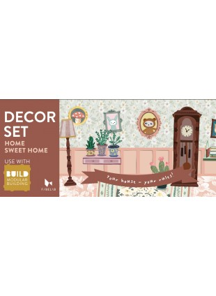 Fabelab Build Sticker Deko-Set Home Sweet Home