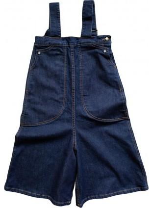 The Simple Folk Jeans-Hosenkleid Wide Leg Overall Dark Denim