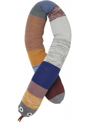 Ferm Living Schlange Kuscheltier Dusty Rainbow