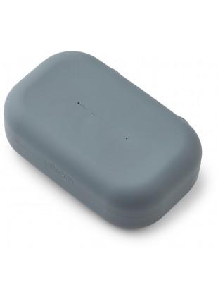 Liewood Silikon Feuchttücher-Box Emi Whale Blue