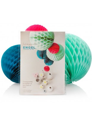 Engel Honeycomb Deko Kugel Set Ocean