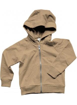 The Simple Folk Fleece-Sweatjacke Essential Hoodie Camel