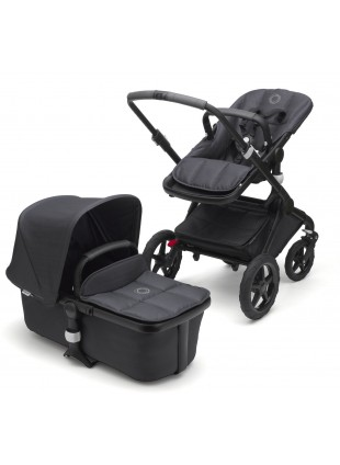 Bugaboo Fox Stellar Kinderwagen Set Komplett Schwarz/Midnight Blue - Kleine Fabriek