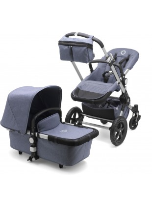 Bugaboo Cameleon 3 Fresh Collection Kinderwagen Set Silber/Bau Melange - Kleine Fabriek