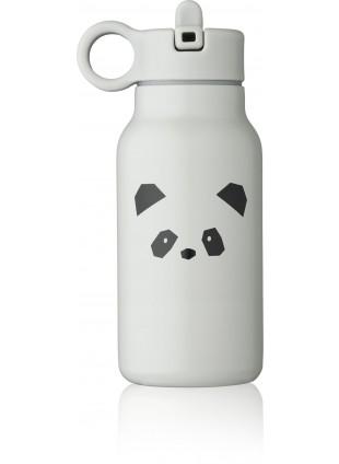 Liewood Edelstahl Trinkflasche Falk Panda Light Grey 250 ml