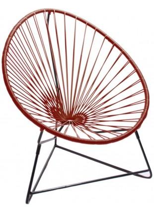 Boqa Acapulco Chair Chiquita Kinderstuhl Schwarz/Weinrot - Kleine Fabriek