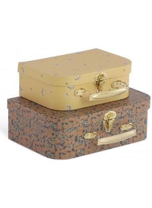 Konges Sløjd Kinder-Koffer Set Winter Leaves - Flower Bouquet Mustard