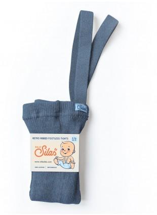 Silly Silas Strumpfhose mit Trägern (ohne Fuß) Steel Blue Blend