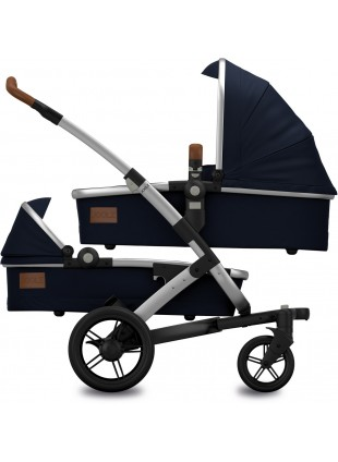 Joolz Geo Earth Parrot Blue Twin Zwillingskinderwagen Set S