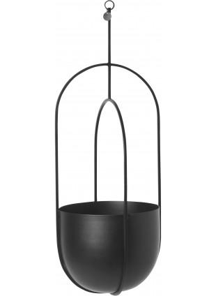 Ferm Living Hanging Deco Pot Blumentopf zum Aufhängen Schwarz
