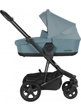Easywalker Harvey 2 Kinderwagen Set Schwarz - Ocean Blue